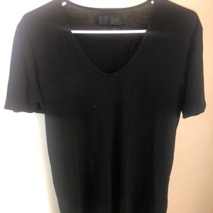 Zara Black V Neck Shirt